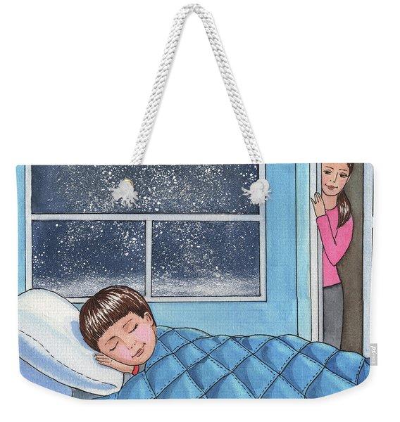 Sweet Dreams Little Boy Weekender Tote Bag