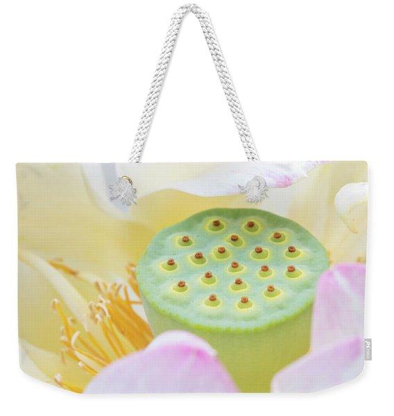 Sweet Lotus Weekender Tote Bag