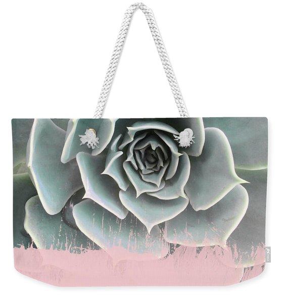 Sweet Pink Paint On Succulent Weekender Tote Bag