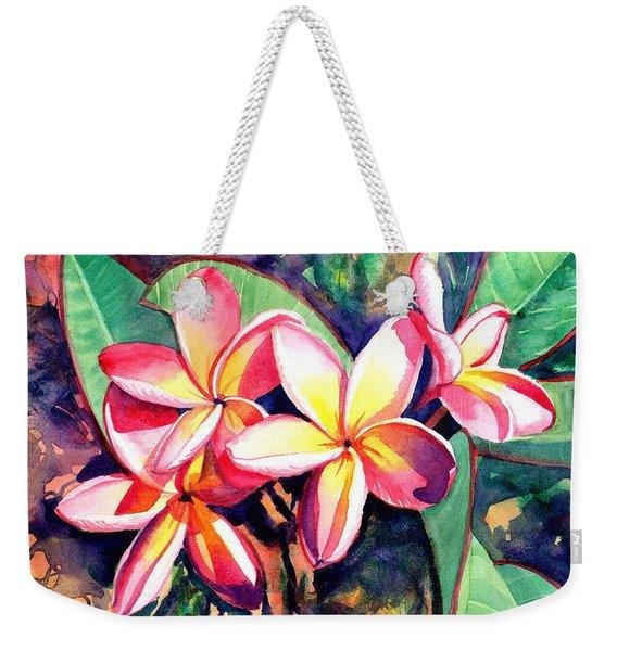 Sweet Plumeria Weekender Tote Bag