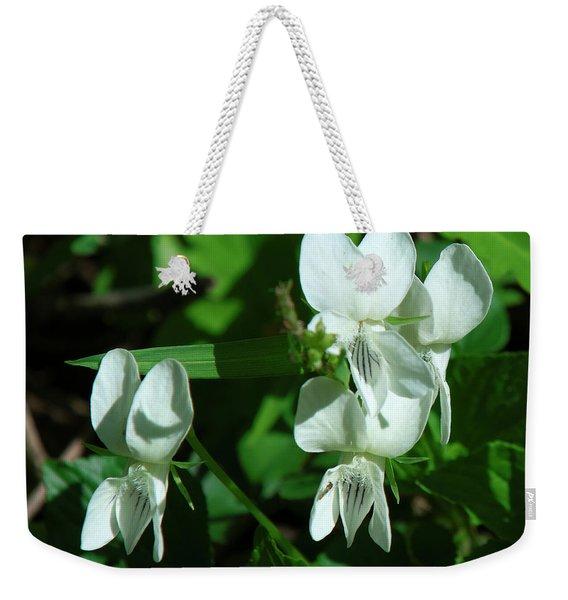 Sweet White Violets Dspf0405 Weekender Tote Bag