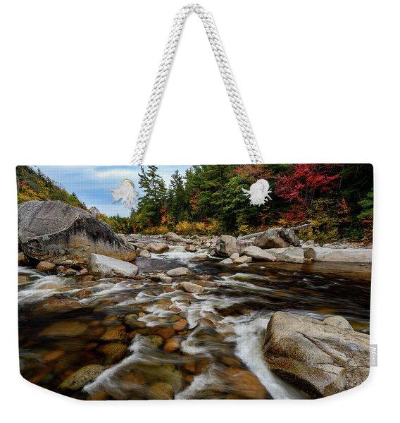 Swift River Autumn Nh Weekender Tote Bag