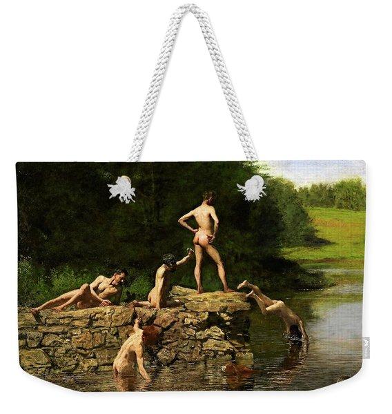 Swimming Hole Weekender Tote Bag