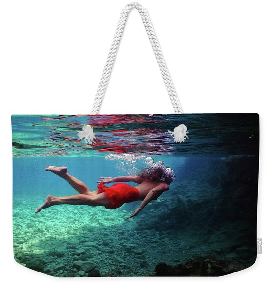 Swimming In The Sea Of Tranquility Weekender Tote Bag
