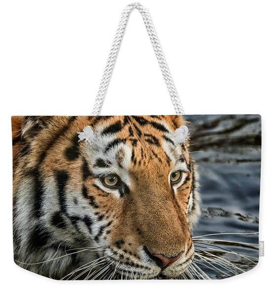 Swimming Tiger Weekender Tote Bag