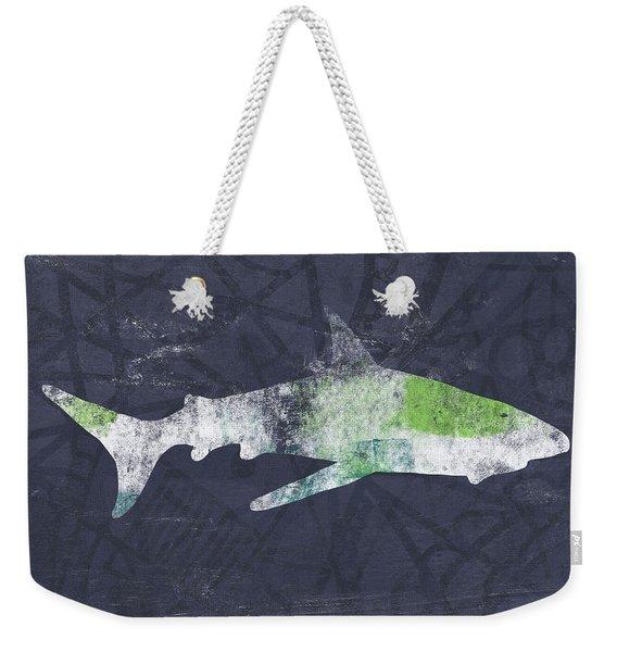 Swimming With Sharks 3- Art By Linda Woods Weekender Tote Bag
