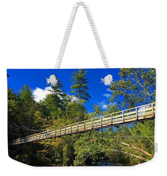 Toccoa River Swinging Bridge Weekender Tote Bag