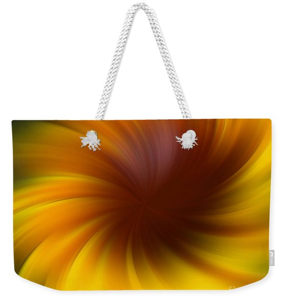 Swirling Yellow And Brown Weekender Tote Bag