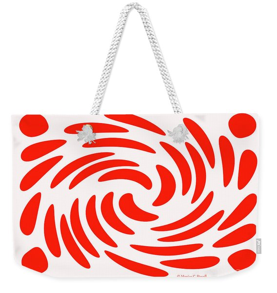 Swirls N Dots S2 Weekender Tote Bag