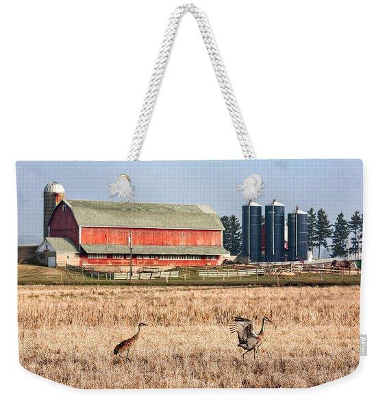 Swiss Cranes Weekender Tote Bag