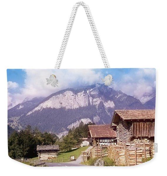 Swiss Farm Country Weekender Tote Bag
