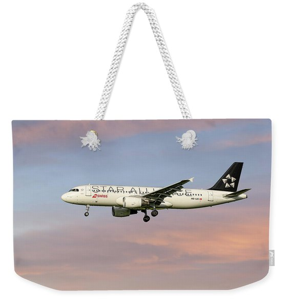 Swiss Star Alliance Livery Airbus A320-214 2 Weekender Tote Bag