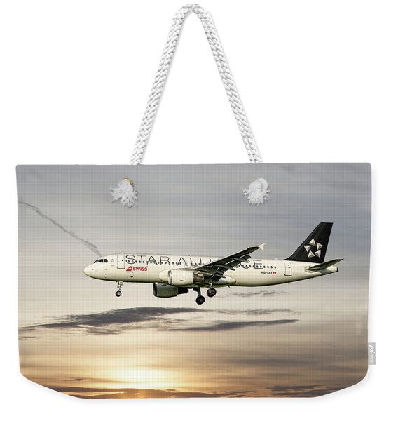 Swiss Star Alliance Livery Airbus A320-214 3 Weekender Tote Bag