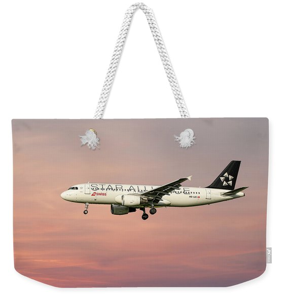 Swiss Star Alliance Livery Airbus A320-214 4 Weekender Tote Bag