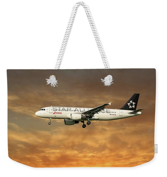 Swiss Star Alliance Livery Airbus A320-214 6 Weekender Tote Bag