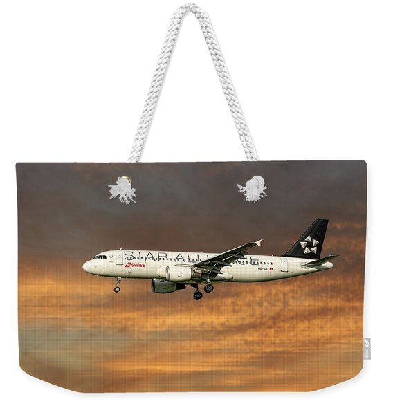 Swiss Star Alliance Livery Airbus A320-214 7 Weekender Tote Bag