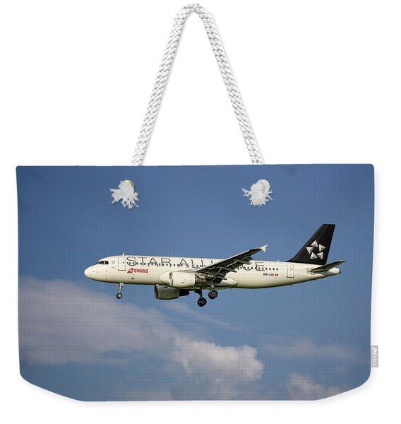 Swiss Star Alliance Livery Airbus A320-214 8 Weekender Tote Bag