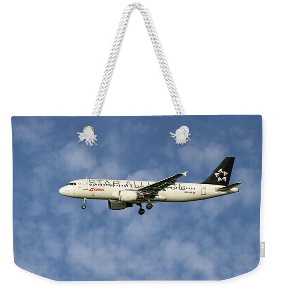 Swiss Star Alliance Livery Airbus A320-214 1 Weekender Tote Bag