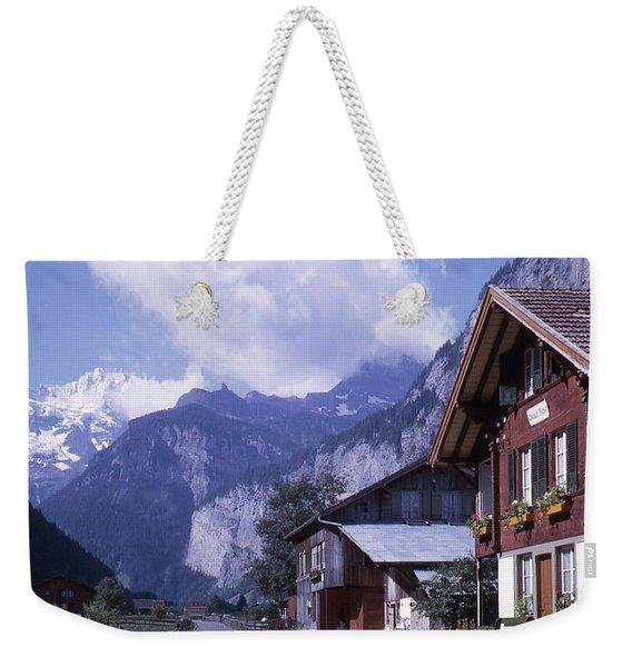 Swiss Town Weekender Tote Bag