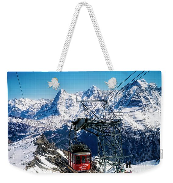 Switzerland Alps Schilthorn Bahn Cable Car  Weekender Tote Bag