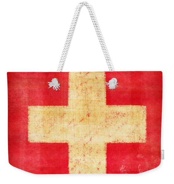 Switzerland Flag Weekender Tote Bag