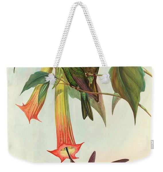 Sword Billed Hummingbird Weekender Tote Bag