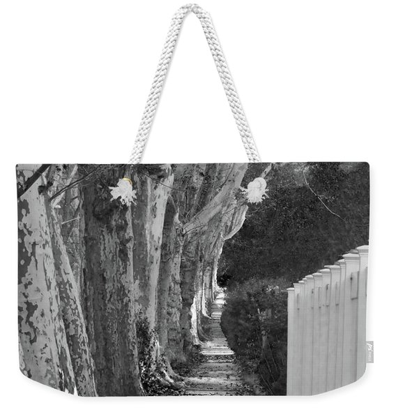 Sycamore Walk-grayscale Version Weekender Tote Bag