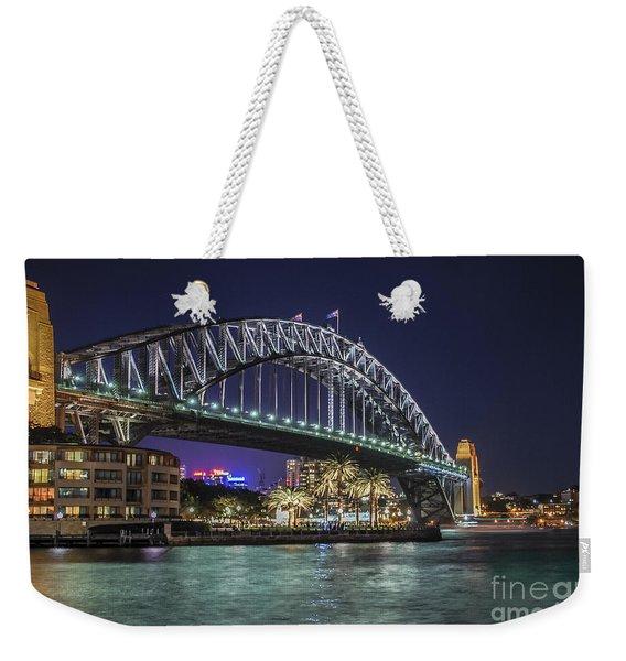 Sydney Harbor Bridge At Night Weekender Tote Bag