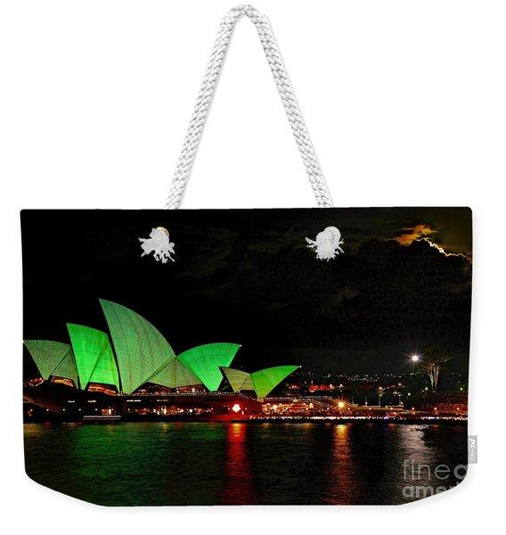 Sydney Opera House Vivid Festival Australia Weekender Tote Bag