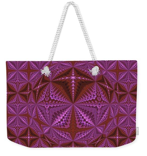 Symmetrical Pattern, Kaleidoscope Weekender Tote Bag