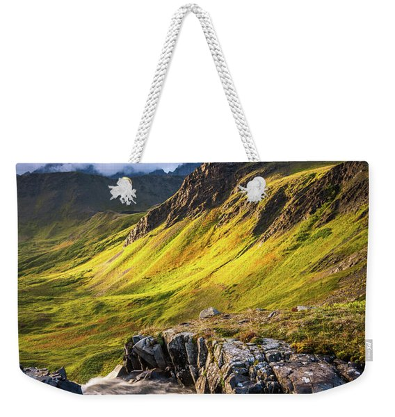 Weekender Tote Bag featuring the photograph Synclavier Foothills by Tim Newton