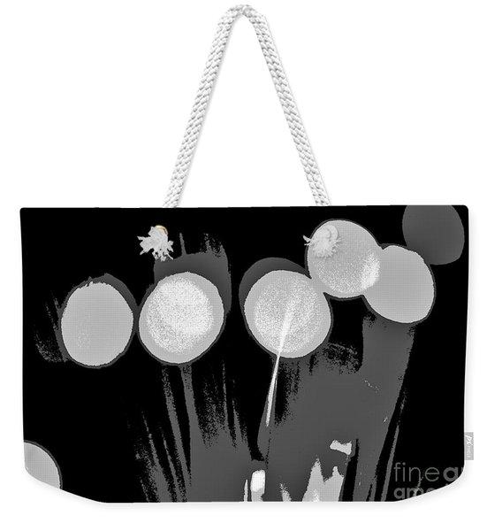 Synergy B/w Weekender Tote Bag