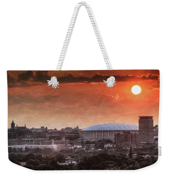Syracuse Sunrise Over The Dome Weekender Tote Bag