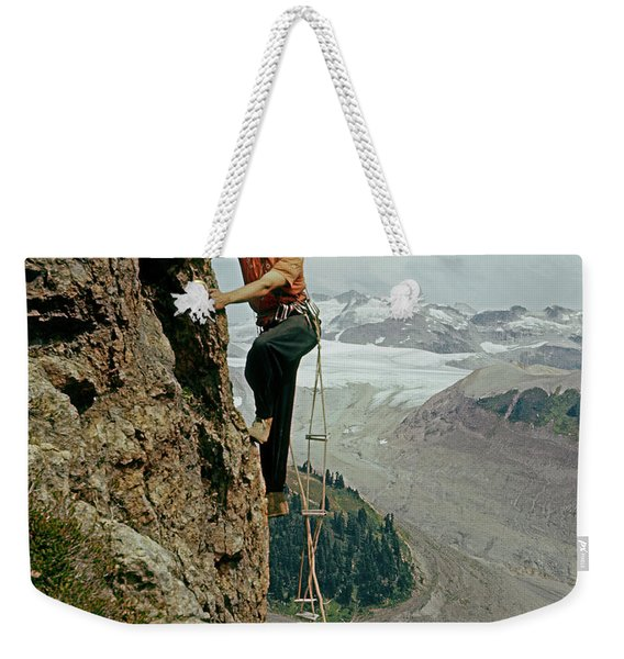 T-902901 Fred Beckey Climbing Weekender Tote Bag