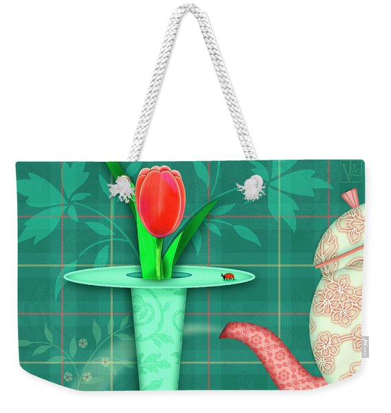 T Is For Two Tulips With Tea Weekender Tote Bag