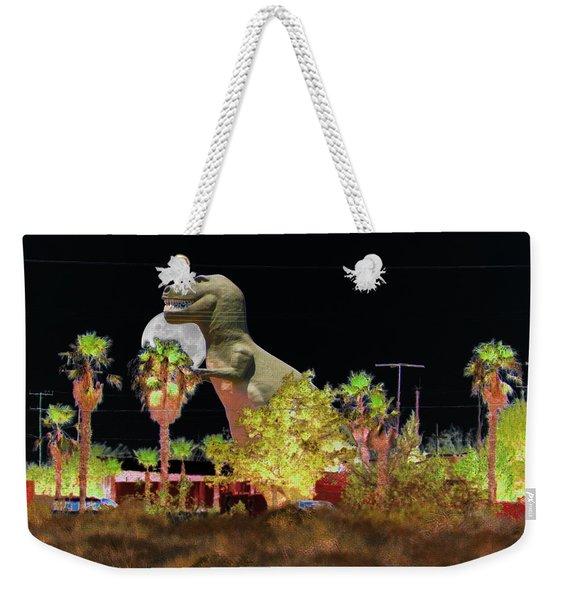 T-rex In The Desert Night Weekender Tote Bag