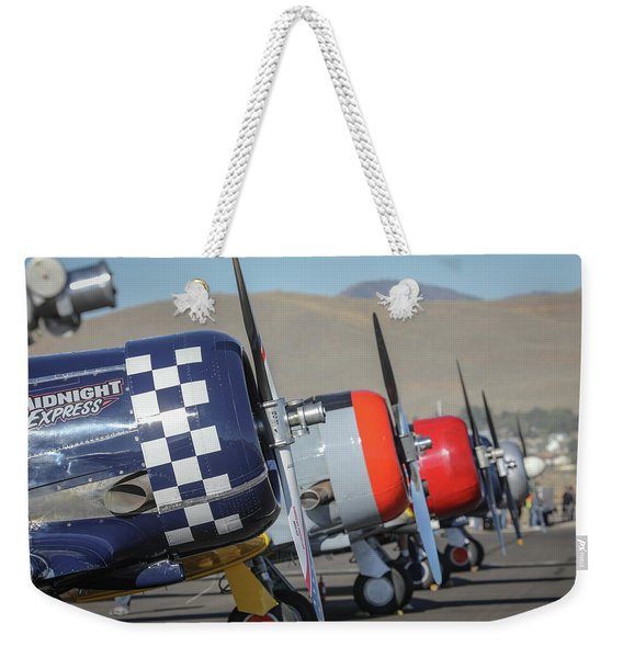 T6 Flight Line At Reno Air Races Weekender Tote Bag