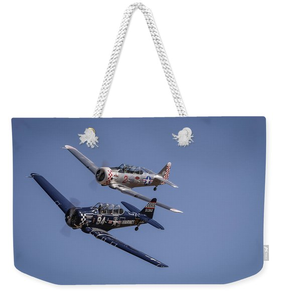 T6s At Reno Air Races Weekender Tote Bag