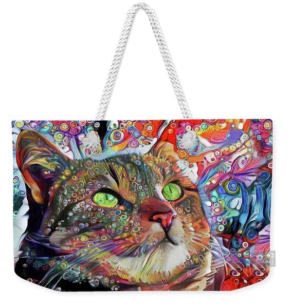 Tabby Cat Color Blast Weekender Tote Bag