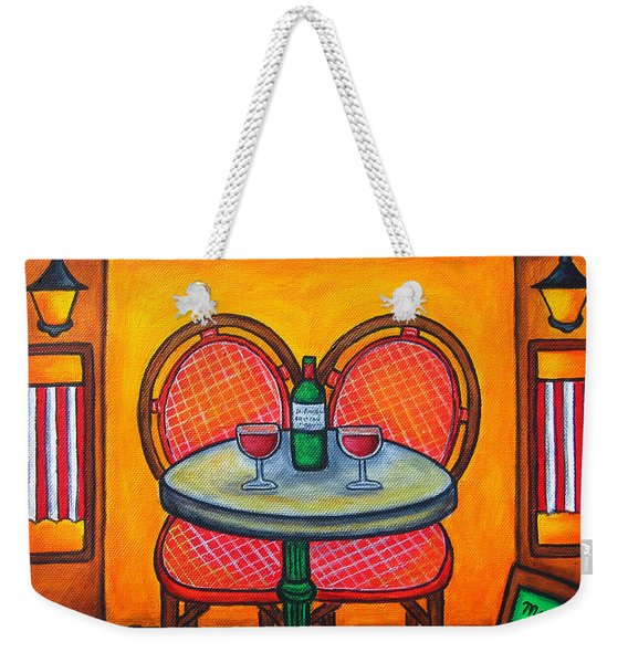 Table For Two In Paris Weekender Tote Bag