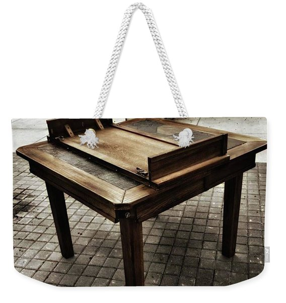 Weekender Tote Bag featuring the photograph Table That Thought. This Beautiful by Mr Photojimsf