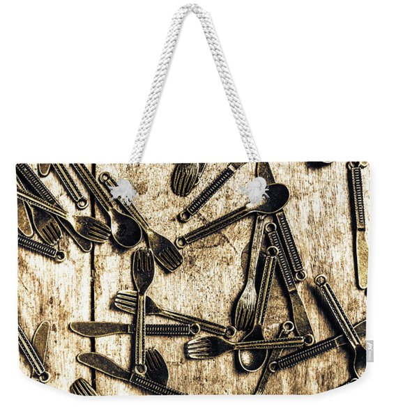 Tableware Abstract Weekender Tote Bag