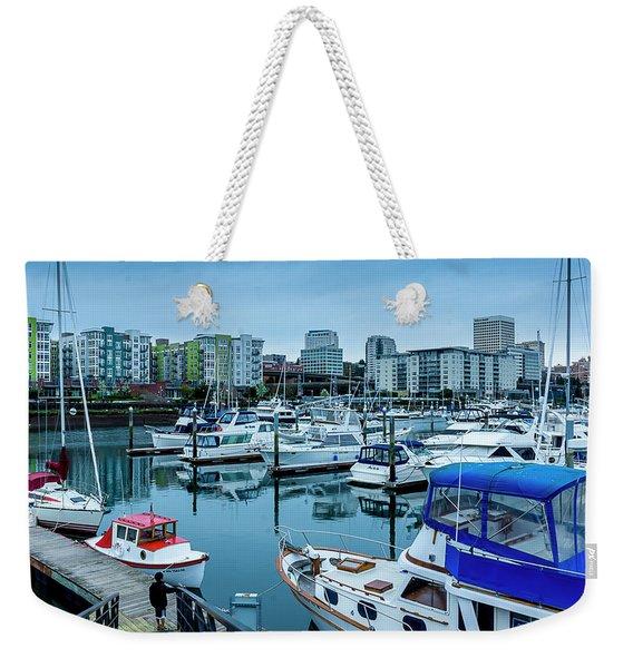 Tacoma Waterfront Marina,washington Weekender Tote Bag