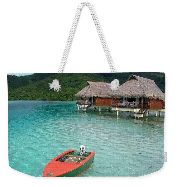 Tahitian Boat Weekender Tote Bag