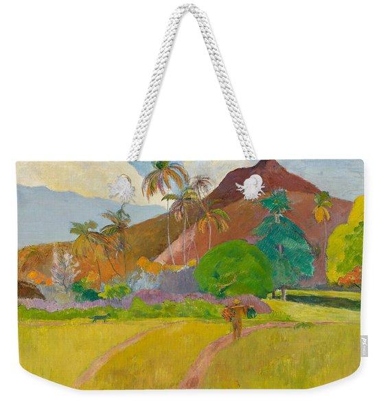 Tahitian Landscape, 1891.  Weekender Tote Bag