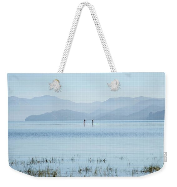 Tahoe Paddle Boarders Weekender Tote Bag