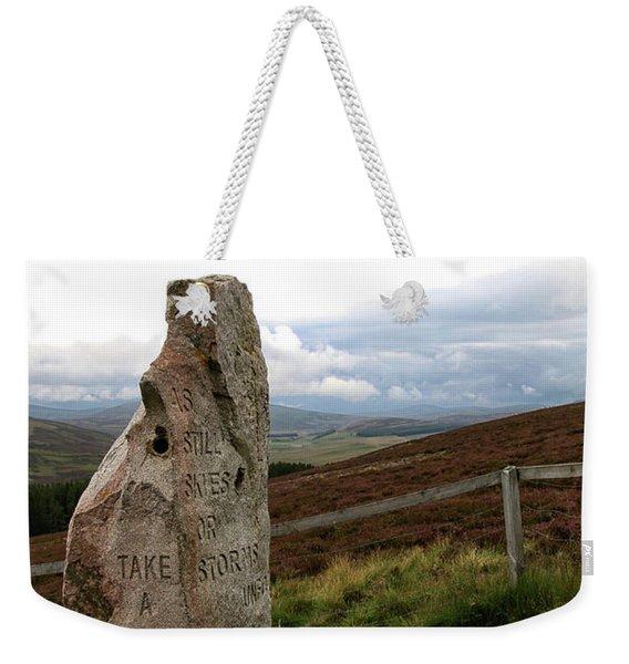 Take A Moment Weekender Tote Bag
