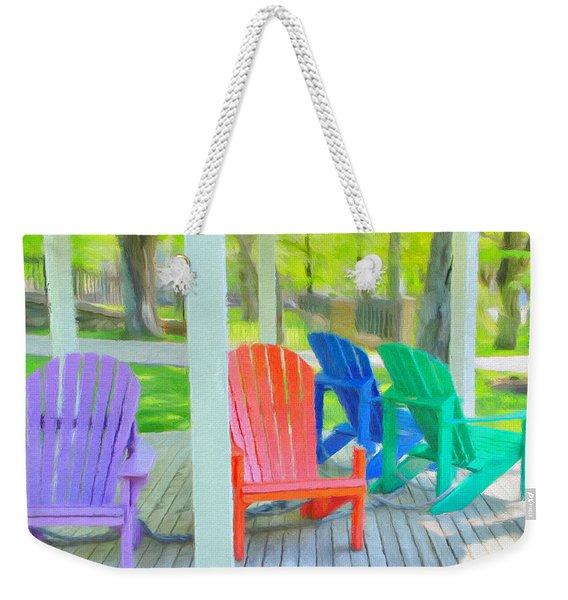 Take A Seat But Don't Take A Chair Weekender Tote Bag