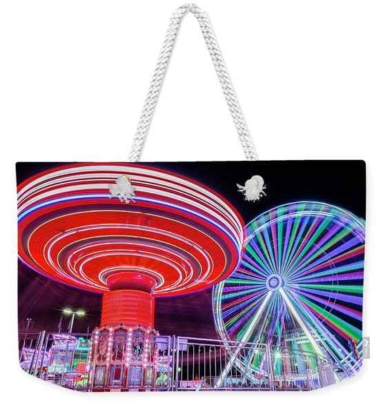 Take A Spin Weekender Tote Bag