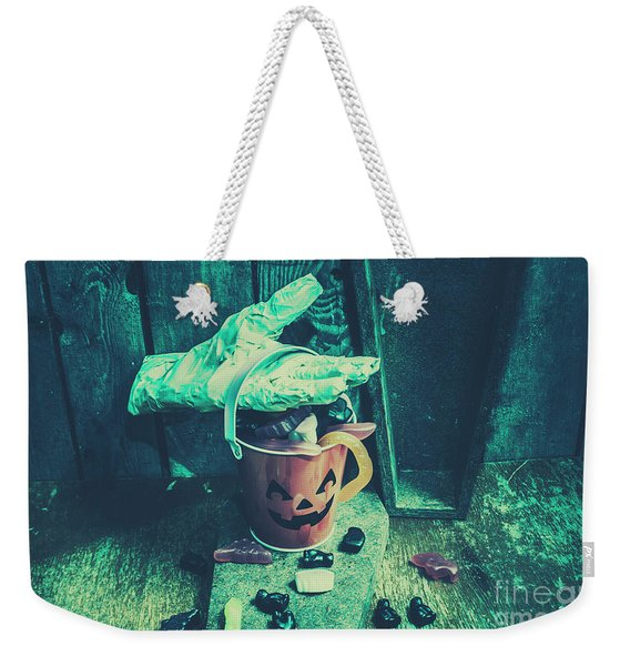Taking Candy From The Little Monsters Weekender Tote Bag